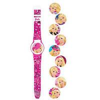 Часы детские Barbie с набором сменных панелей для циферблата 5 функций, BOC035539