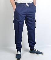 Молодежные штаны Ястребь на завязках - Темно-синие