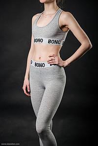 Bono Топ + Лосины женский серый 950119 42