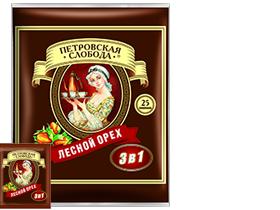 Кофейный напиток Петровская Слобода 3 в 1 Лесной Орех 25 шт.
