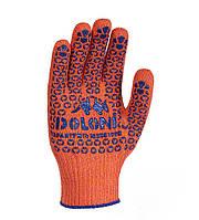 Перчатки трикотажные оранж. з ПВХ Універсал 10 клас 526 DOLONI