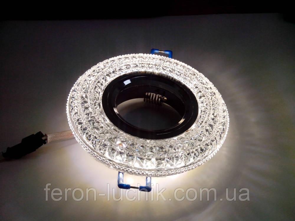 Точечный светильник Feron СD877 c LED подсветкой (прозрачный)