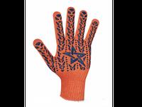 564 Перчатки для работы с звездой ПВХ  orange 7 клас
