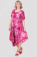 Летнее платье в розовых тонах