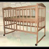 Детская кроватка Sofia Eco S-3 (120*60, 3 ур-ня, без колес, откидная боковинка, без лака)