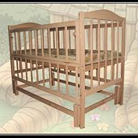 Детская кроватка Sofia Eco S-4 (120*60, 3 ур-ня, откидн. бок., маятник, без лака)