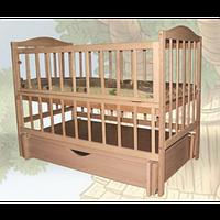 Детская кроватка Sofia Eco S-5 (120*60, 3 ур-ня, откидн. бок., маятник, ящик, без лака)