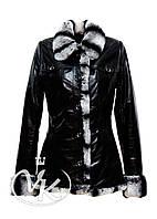Кожаная куртка с мехом под шиншиллу, фото 1