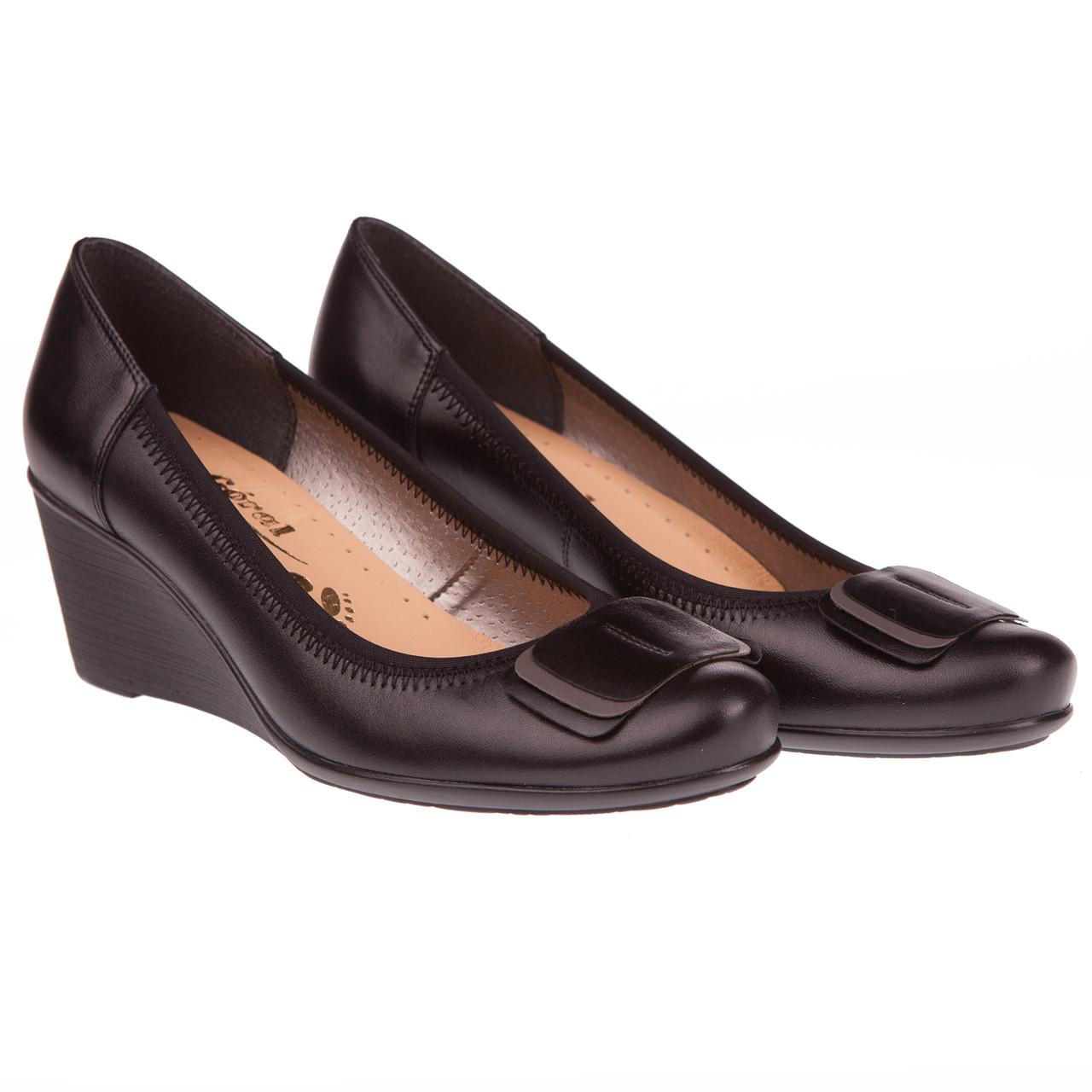 fec41ba24 Удобные туфли женские от Goral (на танкетке, комфортные, элегантные,  черного цвета)