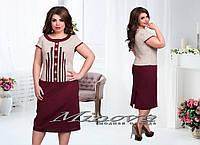 Платье льняное большого размера 50-56