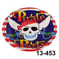 """Тарелки """"Пират"""" бумажные d= 18 см. Набор из 10 шт."""