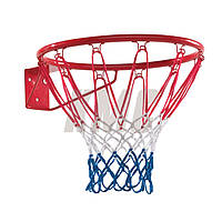 Баскетбольное кольцо с сеткой металлическое d40 см