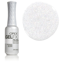 Гель-лак (полупрозрачный с блестками) , Gel FX Prisma Gloss Silver 9 мл