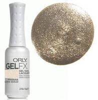 Гель-лак (золотые блестки) , Gel FX Prisma Gloss Gold 9 мл
