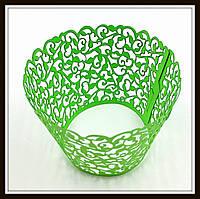 Декор для кексов зеленый (100 шт. в уп.)