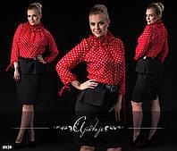 Платье-блузка на поясе