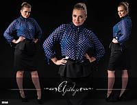 Платье-блузка в горошек