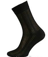 Носки мужские х/б с сеткой Смалий, 11В3-361, 25, 27, 29 размер, чёрные 02, 361