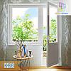 """Балконный блок в профиле КВЕ 88 Eco. 1800х2100 """"Окна Маркет"""""""