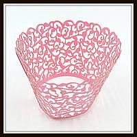 Декор для кексов розовый (100 шт. в уп.)