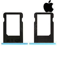 Держатель SIM-карты для Apple iPhone 5C оригинал (голубой)