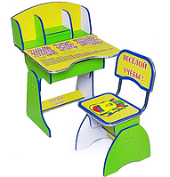 Парта + стул E2881 GREEN-YELLOW Веселой учебы