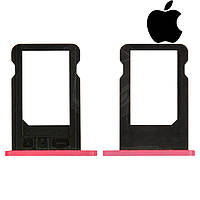 Держатель SIM-карты для Apple iPhone 5C, оригинал, розовый