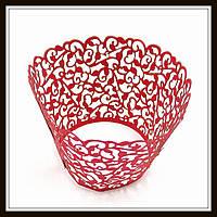 Декор для кексов красный (100 шт. в уп.)