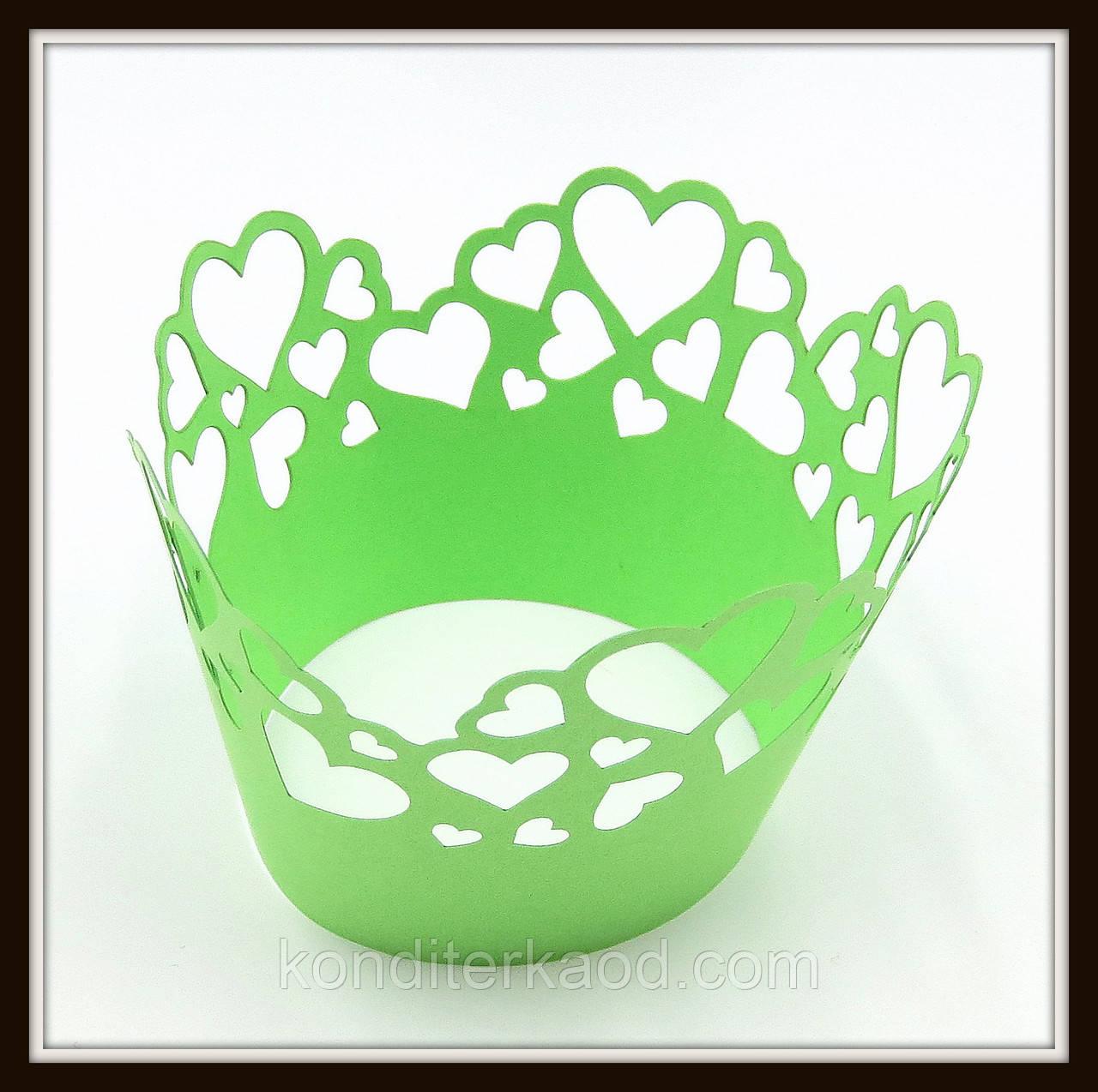Декор для кексов зеленый