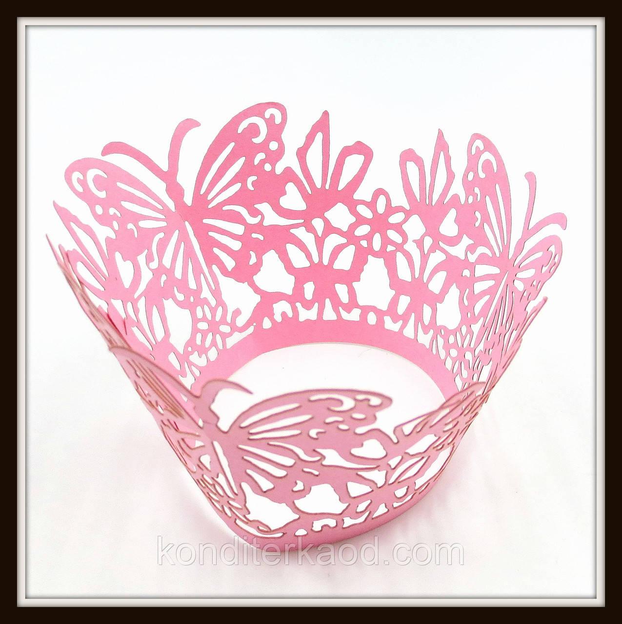 Декор для кексів рожевий