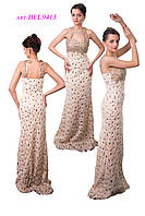 Вечернее платье с роскошной декорацией