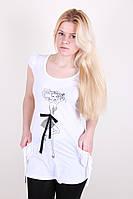 Стильная летняя белая женская туника.