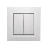 Выключатель VS10-200 двухклавишный внутр. уст. белый Elegant MARSHEL