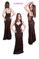 Коричневое выпускное платье