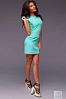 """Короткое платье облегающего силуэта по бокам шнуровка """"Bethany"""" Ментоловый, 44-46"""