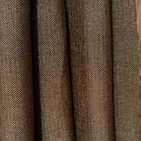 Штора мешковина блекаут темно-коричневая