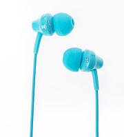 Наушники гарнитура 3,5 Remax RM-501 для Apple Samsung HTC LG Lenovo голубой
