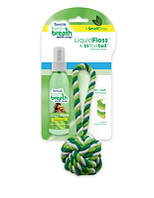 TropiClean Liquid Floss + Rope Ball Набор для гигиены полости рта мелких пород (001268)