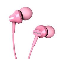 Наушники гарнитура 3,5 Remax RM-501 для Apple Samsung HTC LG Lenovo розовый