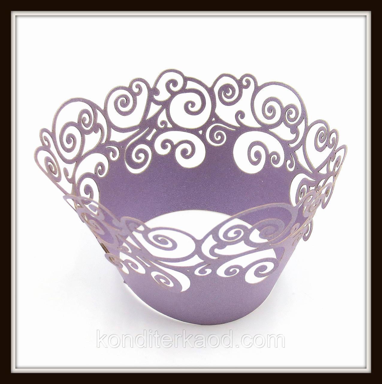 Декор для кексів фіолетовий (100 шт. в уп.)