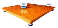 Платформенные весы ЗЕВС-Эконом ВПЕ-1000-4(Н1212), до 1000 кг, размер площадки 1200х1200 мм