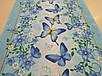 """Ткань вафельная ширина 50 см Бабочки / """"Чарівна Ніч"""", фото 3"""