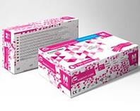 Нитриловые перчатки без пудры розовые 100шт