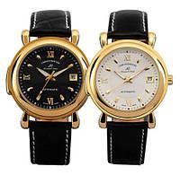 Классические механические наручные часы Kronen & sohne Legend VI  чёрные/белые