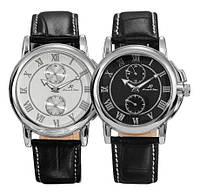 Классические механические наручные часы Kronen & sohne Legend I белые/чёрные