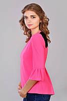 Молодежная женская блузка с гипюром.