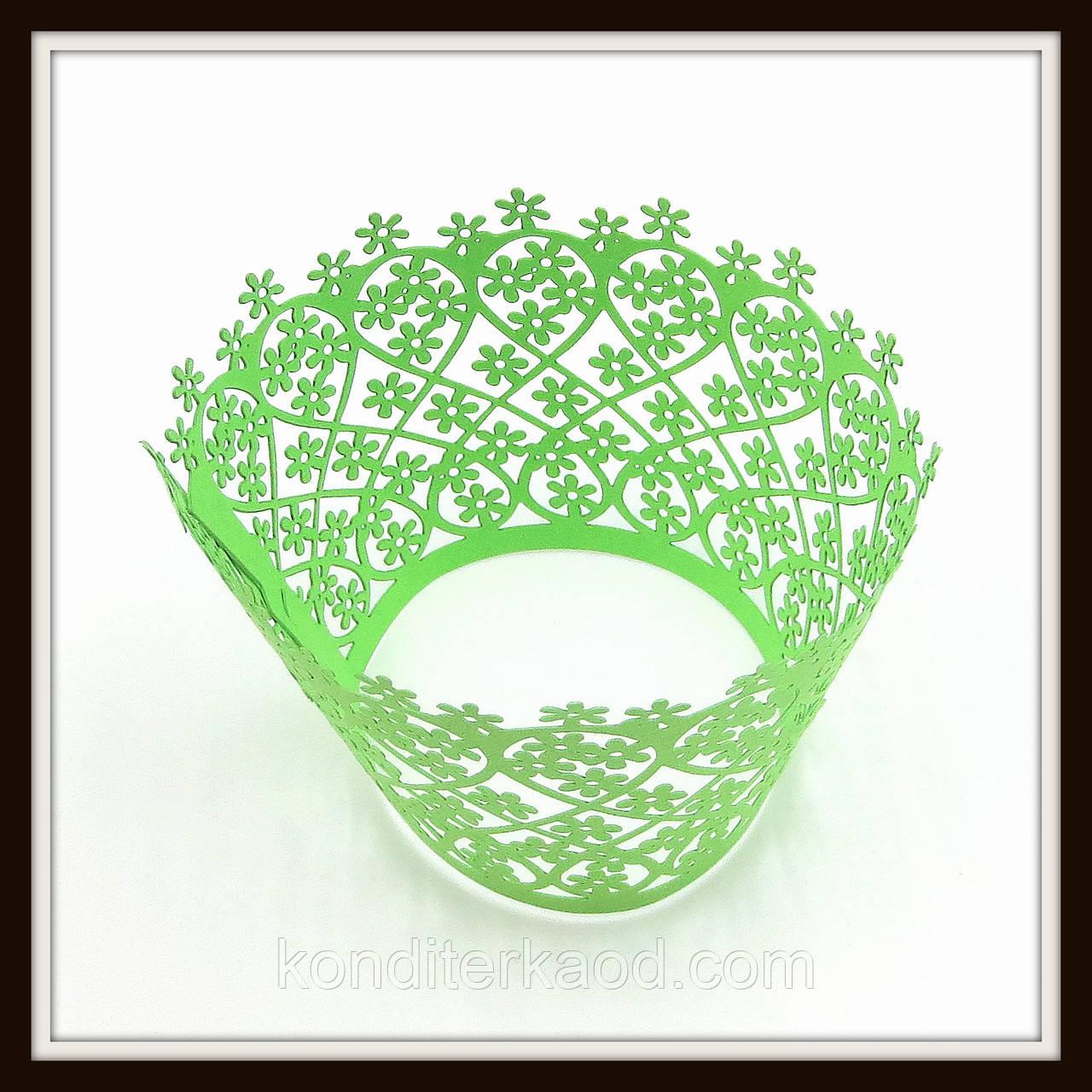 Декор для кексів зелений