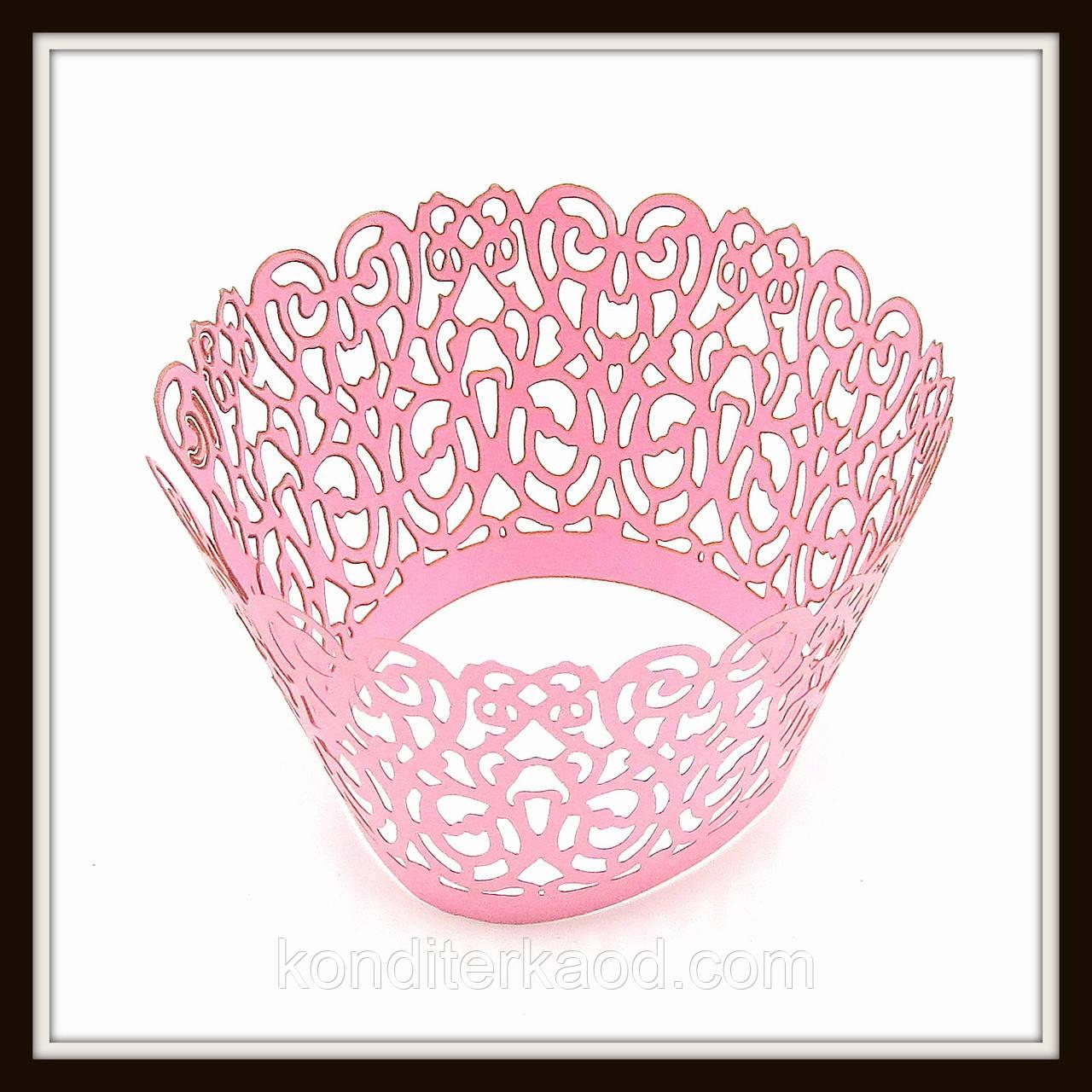 Декор для кексов розовый