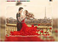 Схема для вышивки бисером на подрамнике ВСТРЕЧА В ПАРИЖЕ