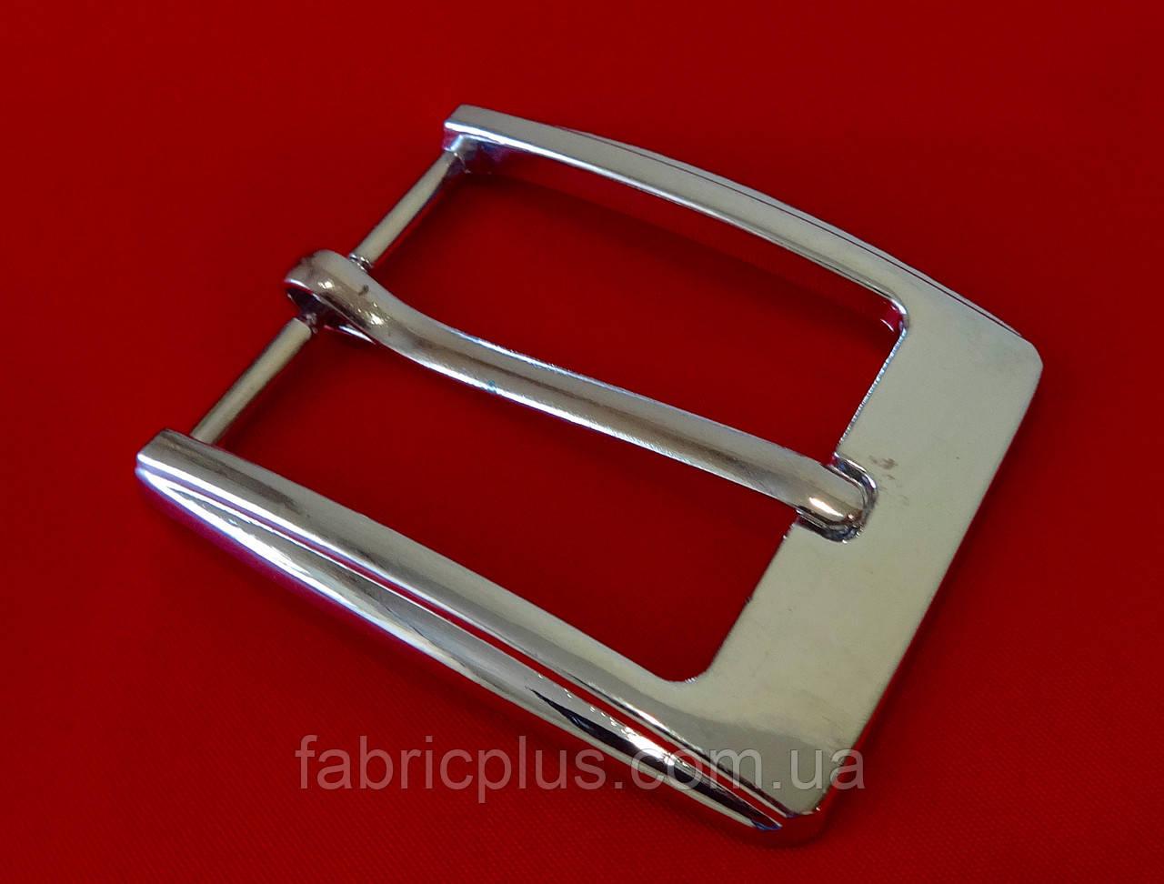 Пряжка классическая  3,5 см (1 прокол) никель